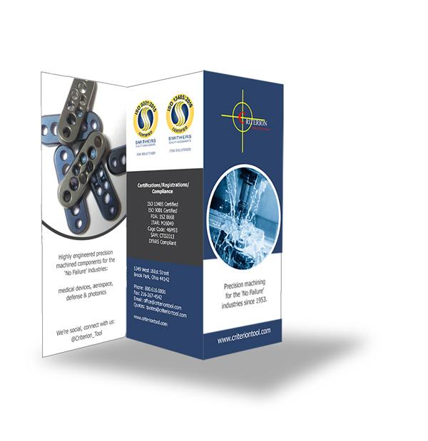 Criterion Tool brochure display